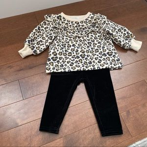 Lot of 3pc baby girl clothes size 6-12m